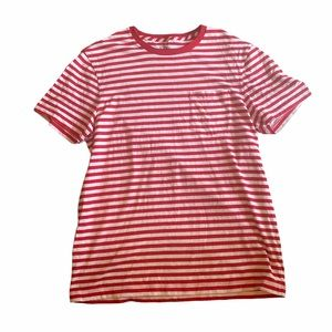 3/$25 J. Crew Basic Red and White Striped T Shirt